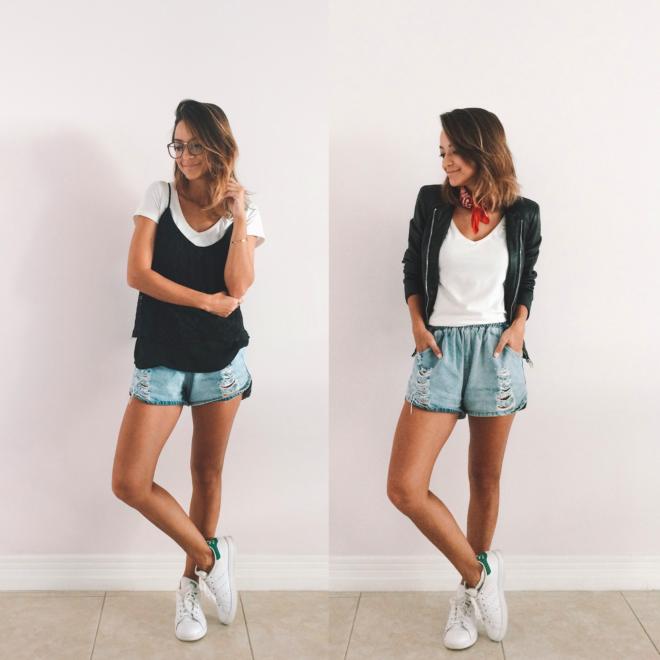 Truques de Estilo Paula Salvador Consultoria Desafio 1 semana Shorts jeans e camiseta 02